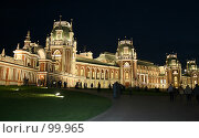 Купить «Царицынский дворец ночью», фото № 99965, снято 2 сентября 2007 г. (c) Елена Морозова / Фотобанк Лори
