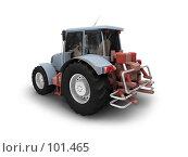 Купить «Трактор, изолировано на белом фоне, вид сзади», иллюстрация № 101465 (c) ИЛ / Фотобанк Лори