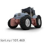 Купить «Трактор, изолировано, вид спереди», иллюстрация № 101469 (c) ИЛ / Фотобанк Лори