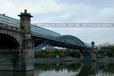 Купить «Г. Москва. Андреевский мост, фрагмент», фото № 101745, снято 17 октября 2007 г. (c) Александр Чураков / Фотобанк Лори