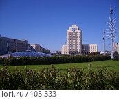 Купить «Минск , площадь Независимости», фото № 103333, снято 17 августа 2018 г. (c) Андрей Шуленко / Фотобанк Лори