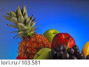Купить «Разные фрукты», фото № 103581, снято 14 ноября 2018 г. (c) Иван Сазыкин / Фотобанк Лори