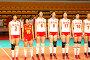 Женская сборная Китая по волейболу, фото № 105257, снято 26 апреля 2017 г. (c) Сергей Лебедев / Фотобанк Лори