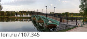 Купить «Мост через пруд», фото № 107345, снято 25 сентября 2018 г. (c) Юрий Назаров / Фотобанк Лори