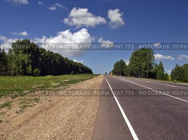Купить «Шоссе», фото № 107773, снято 25 июня 2007 г. (c) Юрий Назаров / Фотобанк Лори