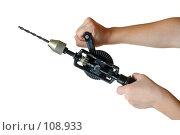 Купить «Старая ручная дрель», фото № 108933, снято 3 ноября 2007 г. (c) Сергей Лаврентьев / Фотобанк Лори