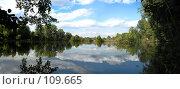 Купить «Панорама озера», фото № 109665, снято 30 августа 2007 г. (c) Оксана Плужник / Фотобанк Лори