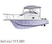 Купить «Рыболовный катер, вид спереди», иллюстрация № 111581 (c) ИЛ / Фотобанк Лори