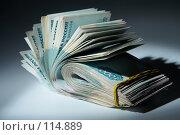 Купить «Пачка денег : теневые доходы», фото № 114889, снято 12 сентября 2007 г. (c) Ирина Мойсеева / Фотобанк Лори