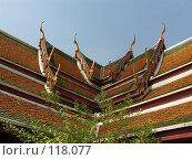 Купить «Крыша пагоды.Таиланд.Бангкок», фото № 118077, снято 23 марта 2007 г. (c) Колчева Ольга / Фотобанк Лори
