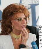 Купить «Софи Лорен», фото № 119745, снято 20 мая 2005 г. (c) Vasily Smirnov / Фотобанк Лори