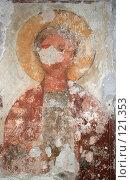 Купить «Фреска на стене храма 6 века, Новый Афон, Абхазия», фото № 121353, снято 9 августа 2007 г. (c) Игорь Дашко / Фотобанк Лори