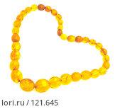 Купить «Янтарное сердце», фото № 121645, снято 15 ноября 2007 г. (c) Анатолий Теребенин / Фотобанк Лори
