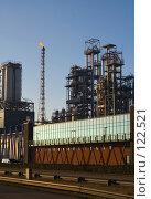 Купить «Нефтяной завод перед закатом», фото № 122521, снято 19 марта 2006 г. (c) Михаил Лавренов / Фотобанк Лори