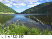 Купить «Горное озеро. Mountain lake», фото № 123285, снято 10 апреля 2020 г. (c) Коваль Василий / Фотобанк Лори