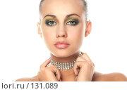 Купить «Портрет красивой девушки», фото № 131089, снято 17 февраля 2019 г. (c) Серёга / Фотобанк Лори