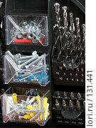 Купить «Набор: сверла и шурупы и битки», фото № 131441, снято 28 ноября 2007 г. (c) Александр Паррус / Фотобанк Лори