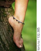 Купить «Женская нога», фото № 132385, снято 22 августа 2007 г. (c) Морозова Татьяна / Фотобанк Лори