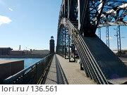 Санкт-Петербург, мост Петра Великого (2007 год). Стоковое фото, фотограф Катыкин Сергей / Фотобанк Лори