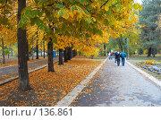 Купить «Осенний парк», фото № 136861, снято 27 октября 2007 г. (c) Сергей Старуш / Фотобанк Лори
