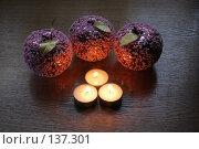 Купить «Стеклянные яблоки», фото № 137301, снято 4 декабря 2007 г. (c) Parmenov Pavel / Фотобанк Лори