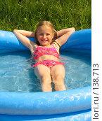 Купить «Девочка в бассейне», фото № 138713, снято 2 июля 2005 г. (c) Serg Zastavkin / Фотобанк Лори
