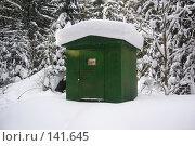 Купить «Трансформаторная будка в зимнем лесу», фото № 141645, снято 19 февраля 2006 г. (c) Михаил Мозжухин / Фотобанк Лори