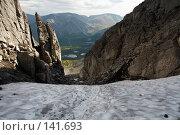 Купить «Вид на долину Рисйок с перевала Северный Чоргорр, Хибины», фото № 141693, снято 21 августа 2006 г. (c) Александр Максимов / Фотобанк Лори