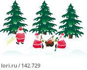 Купить «Три деда Мороза на привале», иллюстрация № 142729 (c) Андрей Андреев / Фотобанк Лори