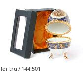 Купить «Фарфоровое яйцо открытое», фото № 144501, снято 27 ноября 2007 г. (c) Екатерина Дындыкина / Фотобанк Лори