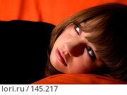 Купить «Мечтательная девушка», фото № 145217, снято 18 ноября 2007 г. (c) Петухов Геннадий / Фотобанк Лори