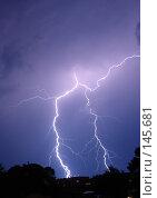 Купить «Гроза в летнюю ночь», фото № 145681, снято 15 августа 2018 г. (c) Константин Порядин / Фотобанк Лори