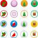 Иконки с новогодними символами, фото № 145989, снято 4 декабря 2016 г. (c) yelena demyanyuk / Фотобанк Лори