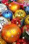 Новогодний фон из елочных украшений, фото № 146933, снято 19 декабря 2006 г. (c) Александр Паррус / Фотобанк Лори