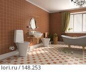 Купить «Интерьер ванной», иллюстрация № 148253 (c) Виктор Застольский / Фотобанк Лори