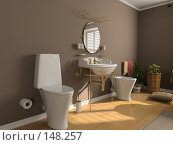 Купить «Интерьер ванной», иллюстрация № 148257 (c) Виктор Застольский / Фотобанк Лори