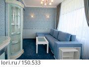 Купить «Комната синего цвета», фото № 150533, снято 17 октября 2019 г. (c) Максим Горпенюк / Фотобанк Лори