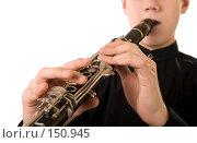 Купить «Портрет кларнетиста», фото № 150945, снято 16 декабря 2007 г. (c) Сергей Лаврентьев / Фотобанк Лори