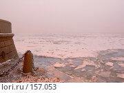 Купить «Нева. Туманный день. Зима», эксклюзивное фото № 157053, снято 16 декабря 2007 г. (c) Александр Алексеев / Фотобанк Лори