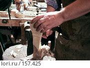 Купить «Процесс изготовления деревянной ложки», фото № 157425, снято 14 сентября 2005 г. (c) Михаил Котов / Фотобанк Лори