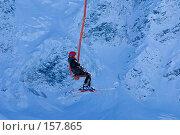 Купить «Горнолыжник на подъёме», фото № 157865, снято 15 декабря 2007 г. (c) Борис Панасюк / Фотобанк Лори