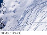 Купить «Экстрим на горных лыжах», фото № 160741, снято 15 декабря 2007 г. (c) Борис Панасюк / Фотобанк Лори