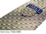 """Купить «Оборотная часть галстука с узором, """"Сделано в Италии""""», фото № 160985, снято 26 декабря 2006 г. (c) Александр Паррус / Фотобанк Лори"""