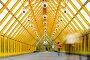 Желтый стеклянный коридор, фото № 162049, снято 25 сентября 2007 г. (c) Бабенко Денис Юрьевич / Фотобанк Лори