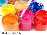 Купить «Краски и кисточка», фото № 163789, снято 13 декабря 2007 г. (c) Ирина Иглина / Фотобанк Лори