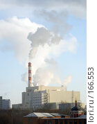 Купить «Мусоросжигательный завод в Москве около Бирюлево», фото № 166553, снято 5 января 2008 г. (c) Донцов Евгений Викторович / Фотобанк Лори