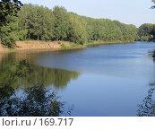 Купить «Летний вид на реку с берега», фото № 169717, снято 21 августа 2005 г. (c) Светлана Белова / Фотобанк Лори