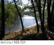 Купить «Вид на реку из-за деревьев», фото № 169721, снято 21 августа 2005 г. (c) Светлана Белова / Фотобанк Лори