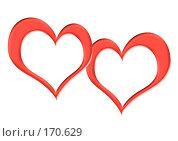 Купить «Две рамки в форме сердечек», иллюстрация № 170629 (c) Лукиянова Наталья / Фотобанк Лори