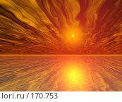 Купить «Фантастический оранжевый пейзаж», иллюстрация № 170753 (c) ElenArt / Фотобанк Лори